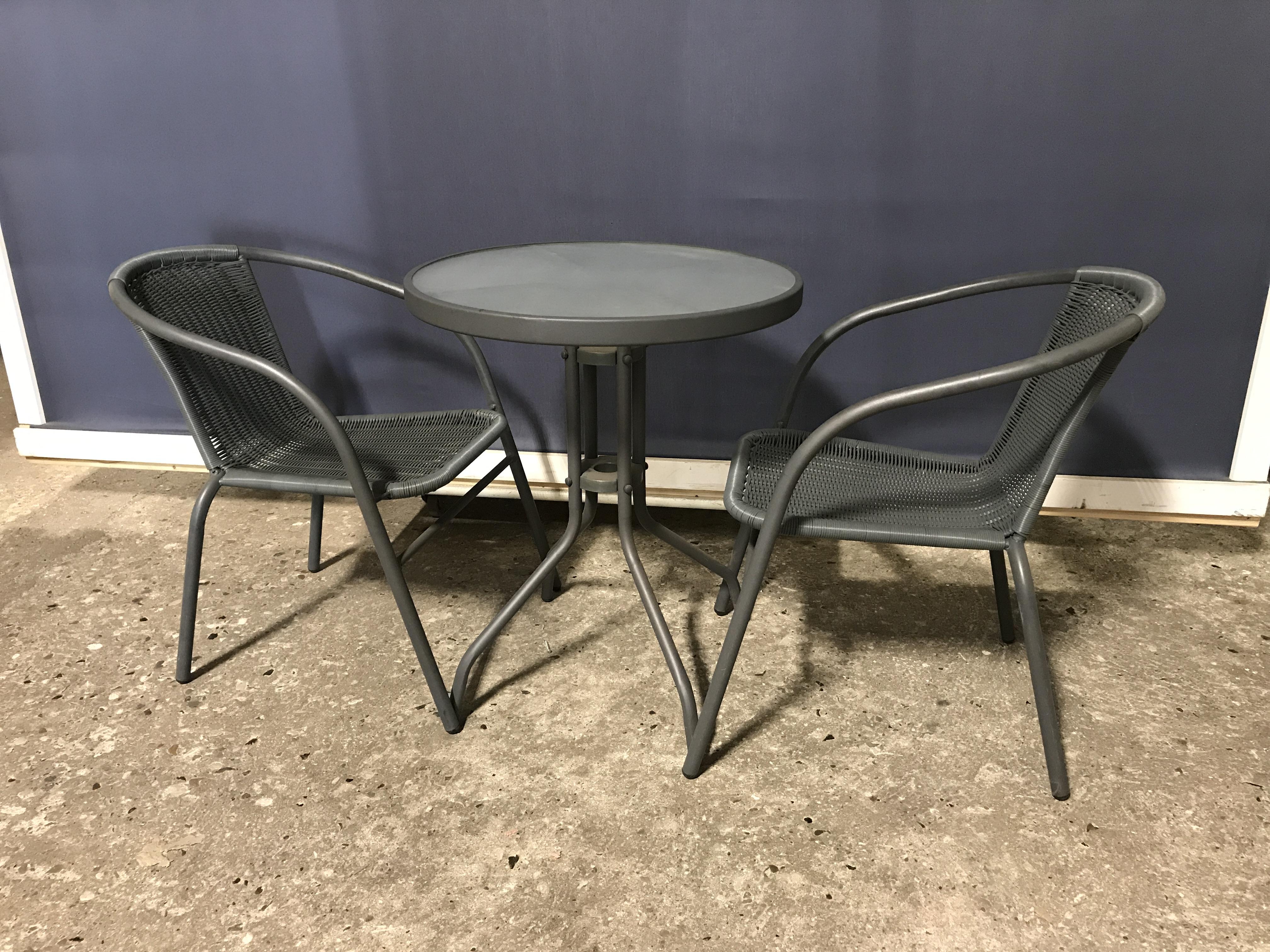 Fin Havebord med stole - J. Jensen Genbrug PN-12